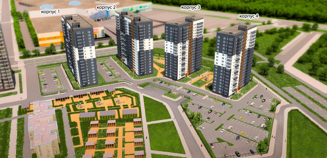 План жилого комплекса ЖК Коллонтай 2