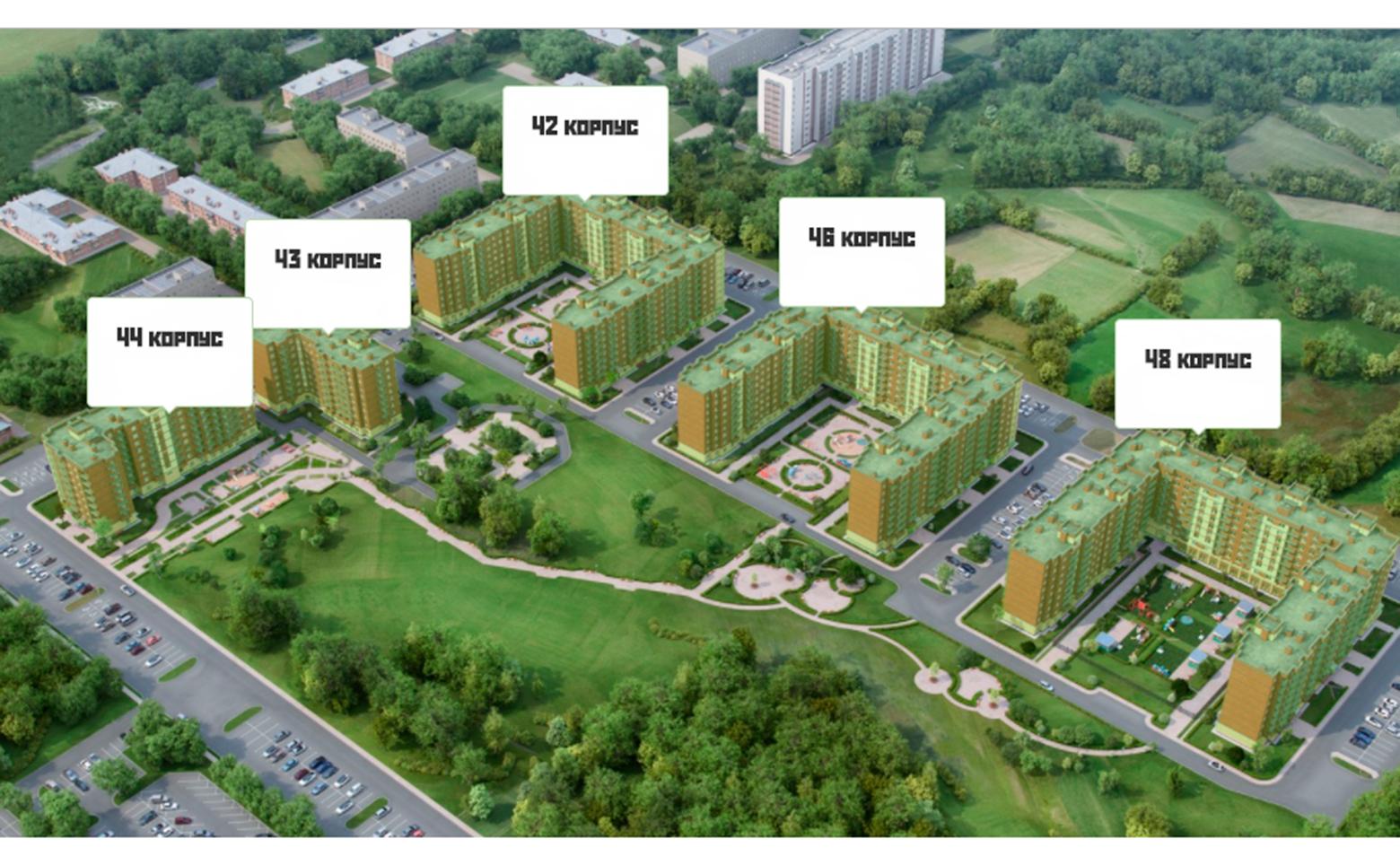 План жилого комплекса ЖК Новое Колпино