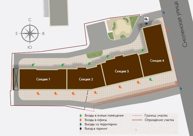 План жилого комплекса ЖК Богемия