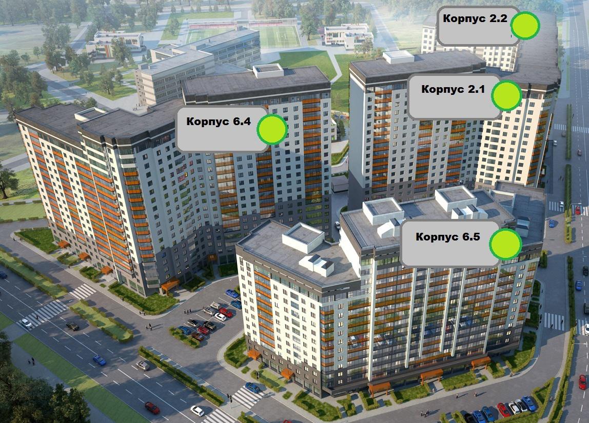 План жилого комплекса ЖК Европейский