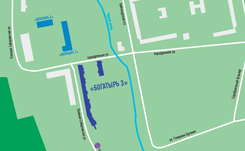 План жилого комплекса ЖК Богатырь 3