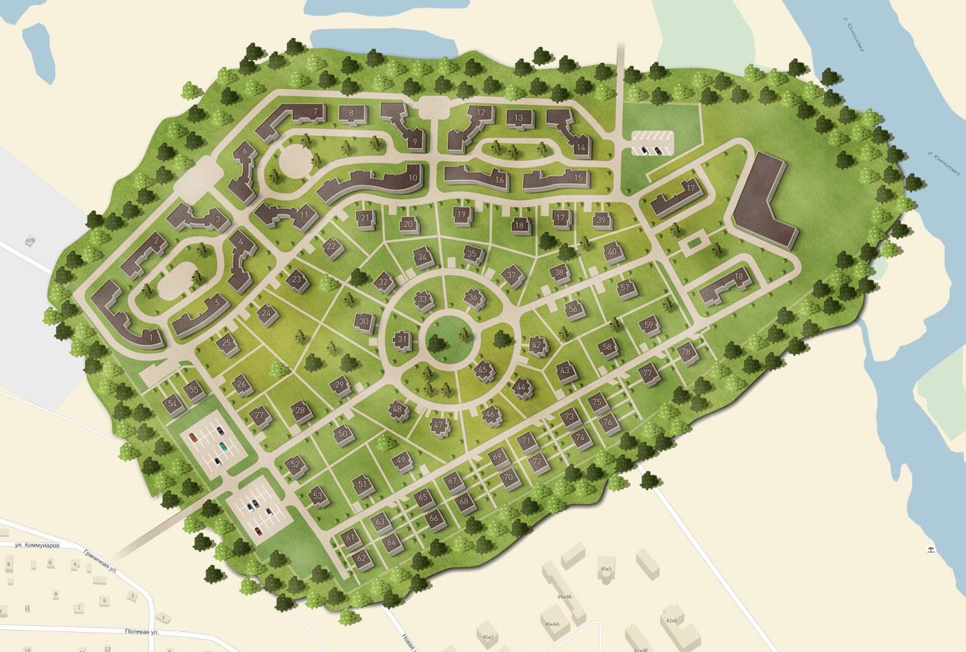 План жилого комплекса ЖК Лахта Парк