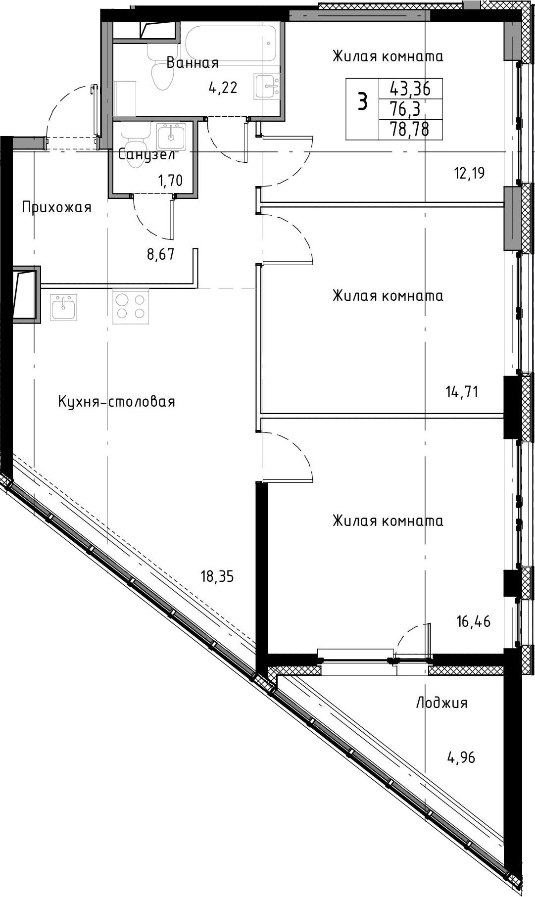 4-к.кв (евро), 81.26 м²