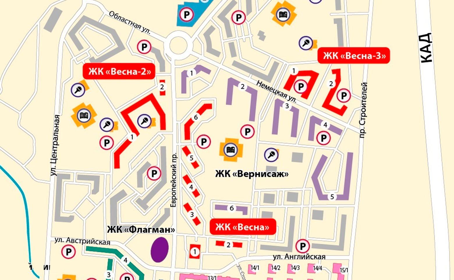 План жилого комплекса ЖК Весна 2