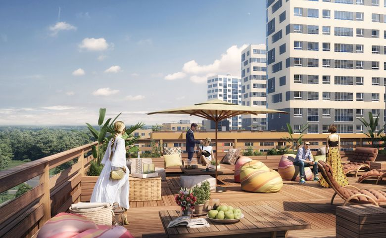 Общественные пространства на крыше