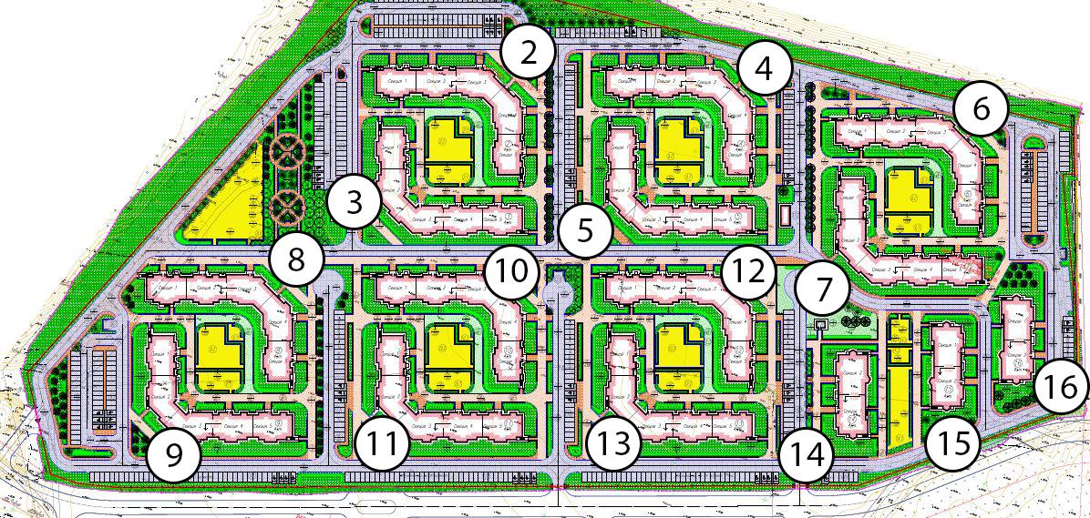 План жилого комплекса ЖК Чудеса Света