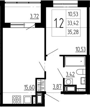 2-к.кв (евро), 37.14 м²