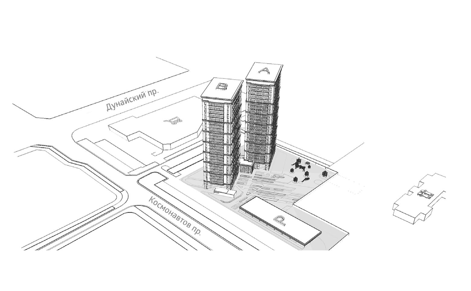 План жилого комплекса ЖК Bau Haus
