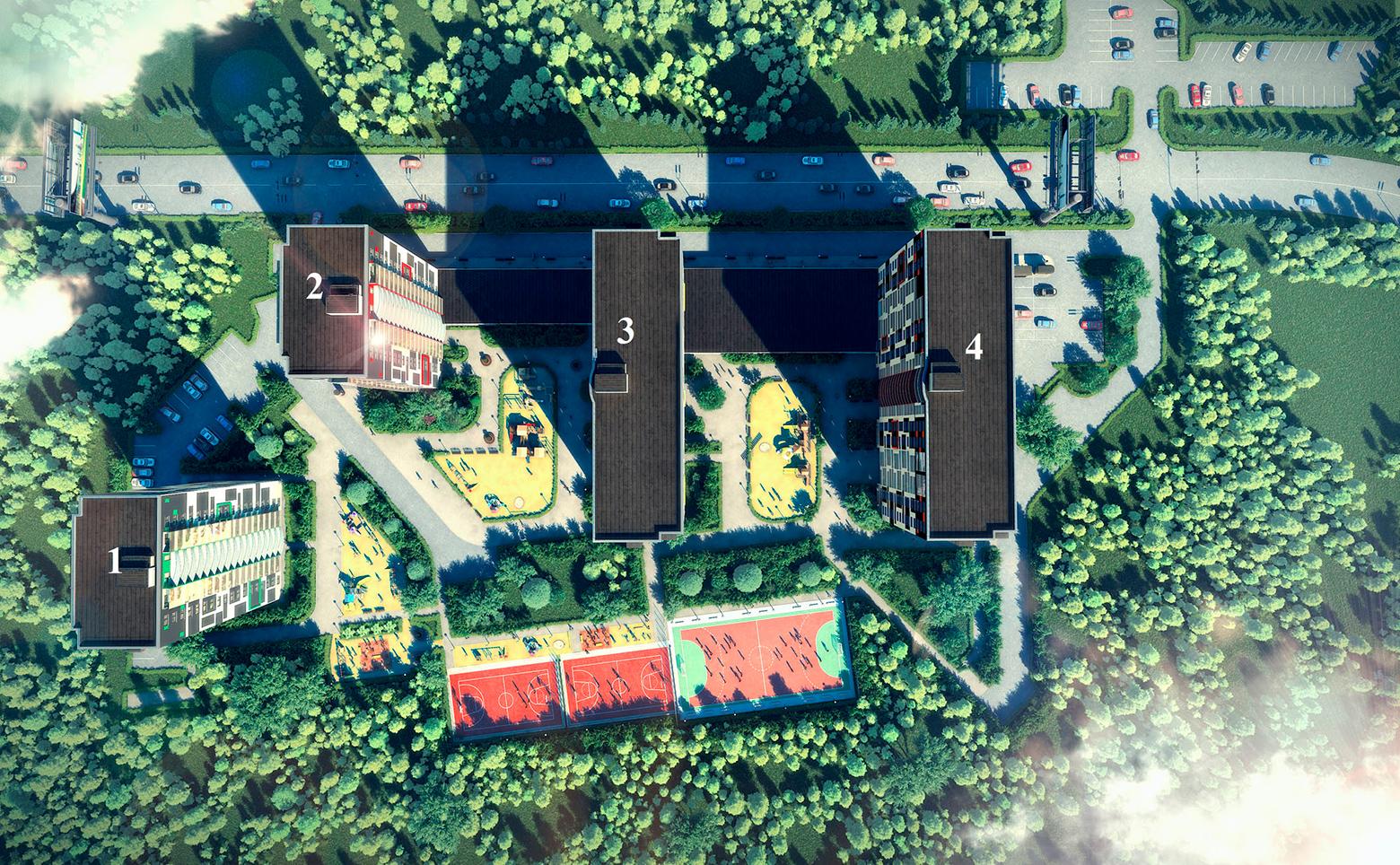 План жилого комплекса ЖК Гольфстрим