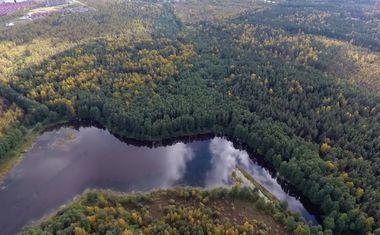 Плотина озеро