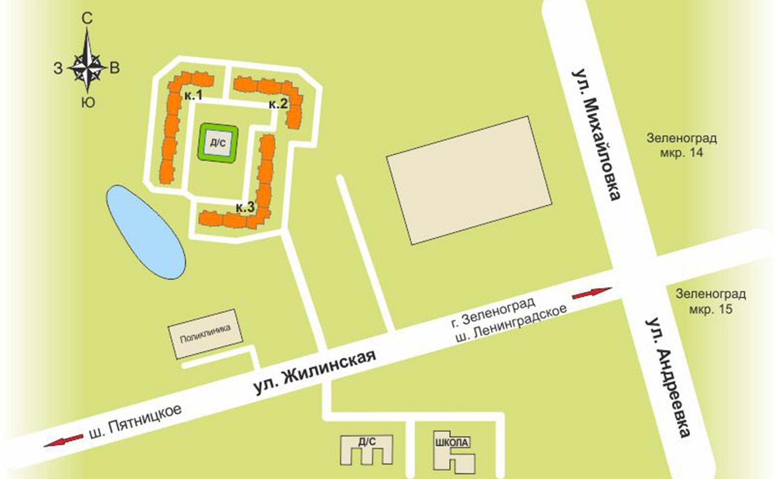 План жилого комплекса ЖК Первый Андреевский