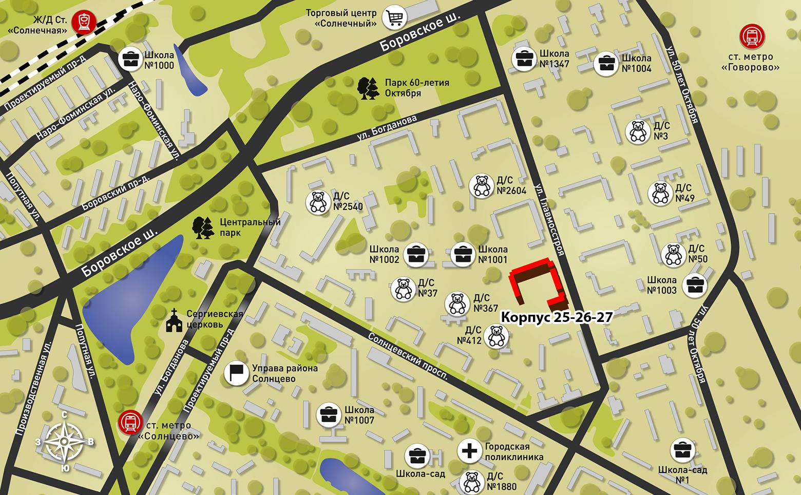 План жилого комплекса ЖК Солнцево