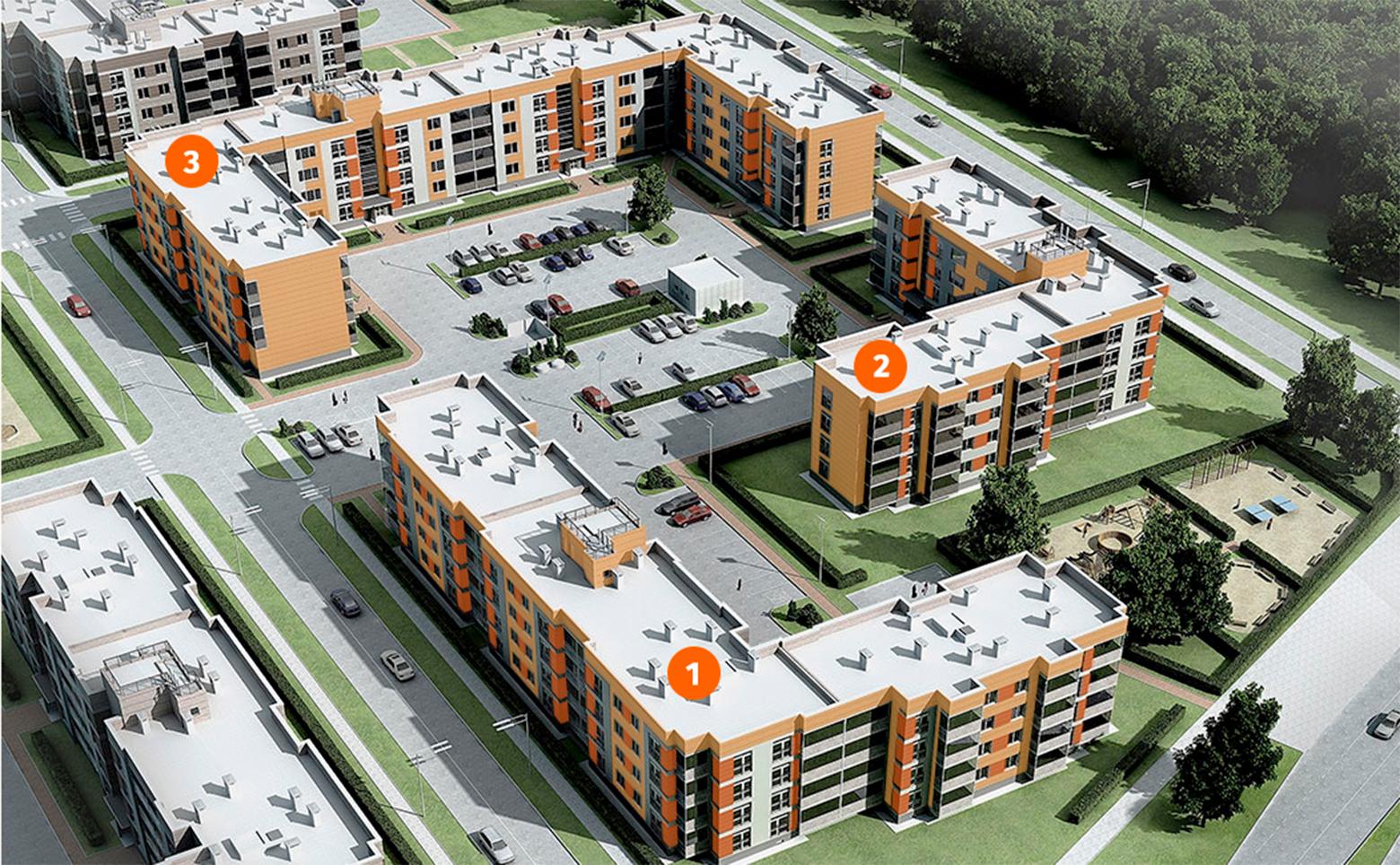 План жилого комплекса ЖК Образцовый квартал
