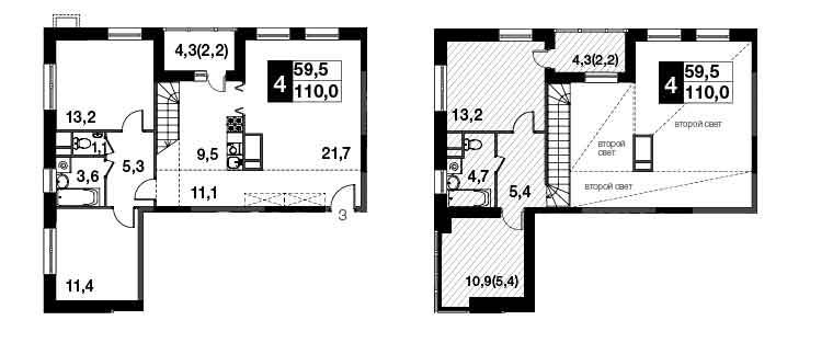 4-к.кв, 119.8 м²