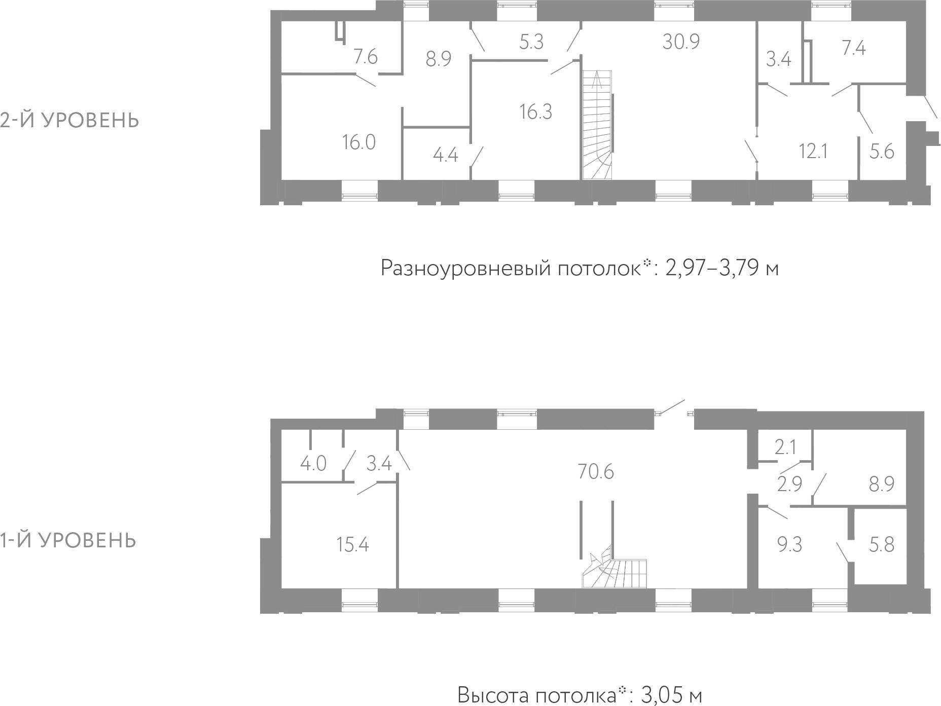 4-комнатная 240 м<sup>2</sup> на 1 этаже