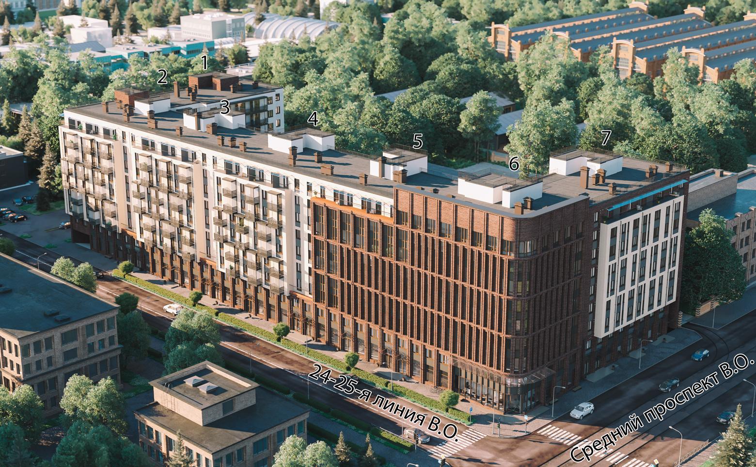 План жилого комплекса ЖК NEVA-NEVA