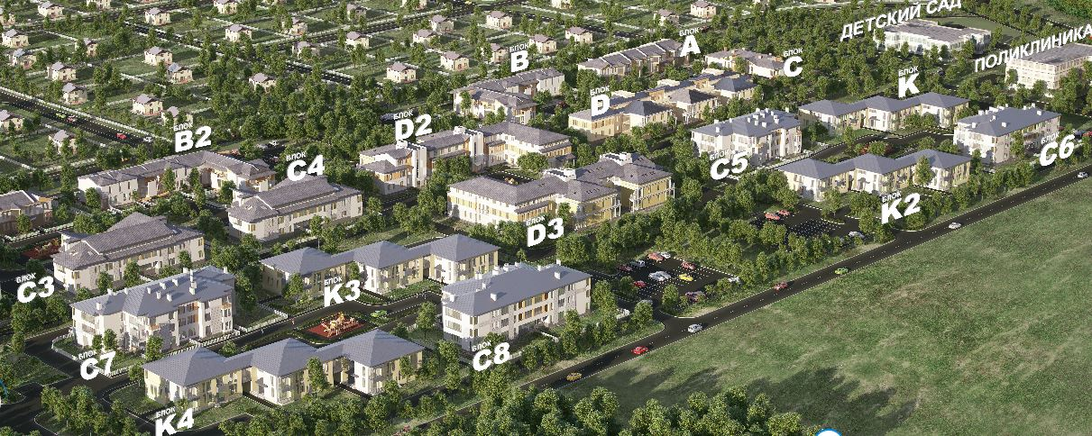 План жилого комплекса ЖК Петровская мельница