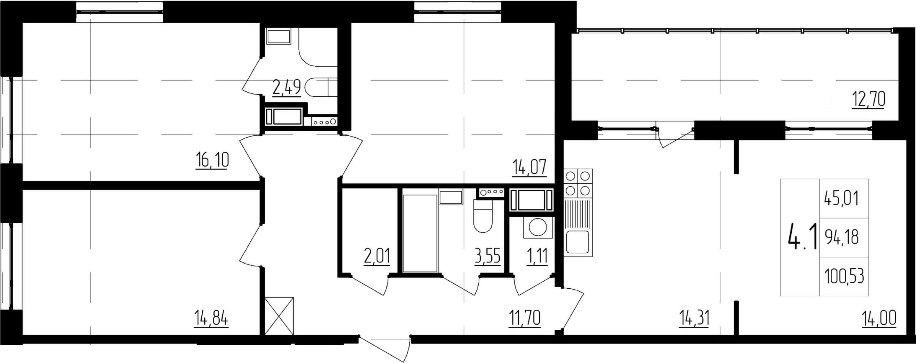 4-к.кв (евро), 106.88 м²