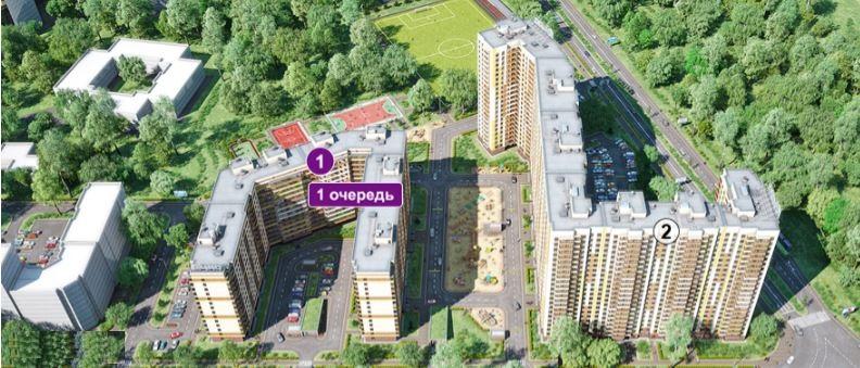 План жилого комплекса ЖК Весна 3