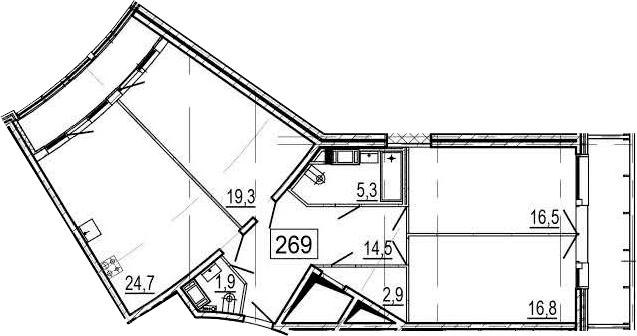 4-комнатная 117 м<sup>2</sup> на 10 этаже