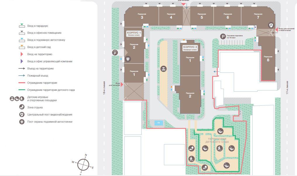 План жилого комплекса ЖК Fjord