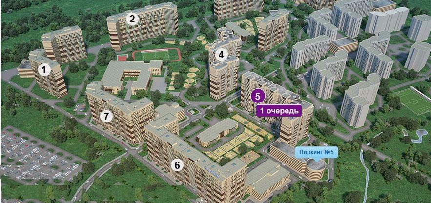 План жилого комплекса ЖК Приневский
