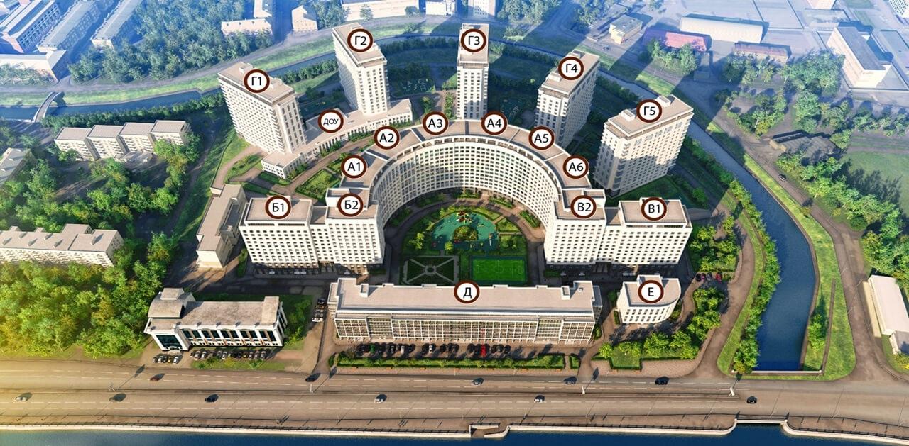 План жилого комплекса ЖК Riverside