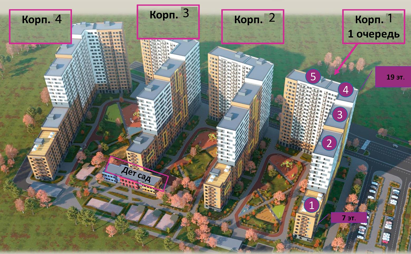 План жилого комплекса ЖК ID Murino