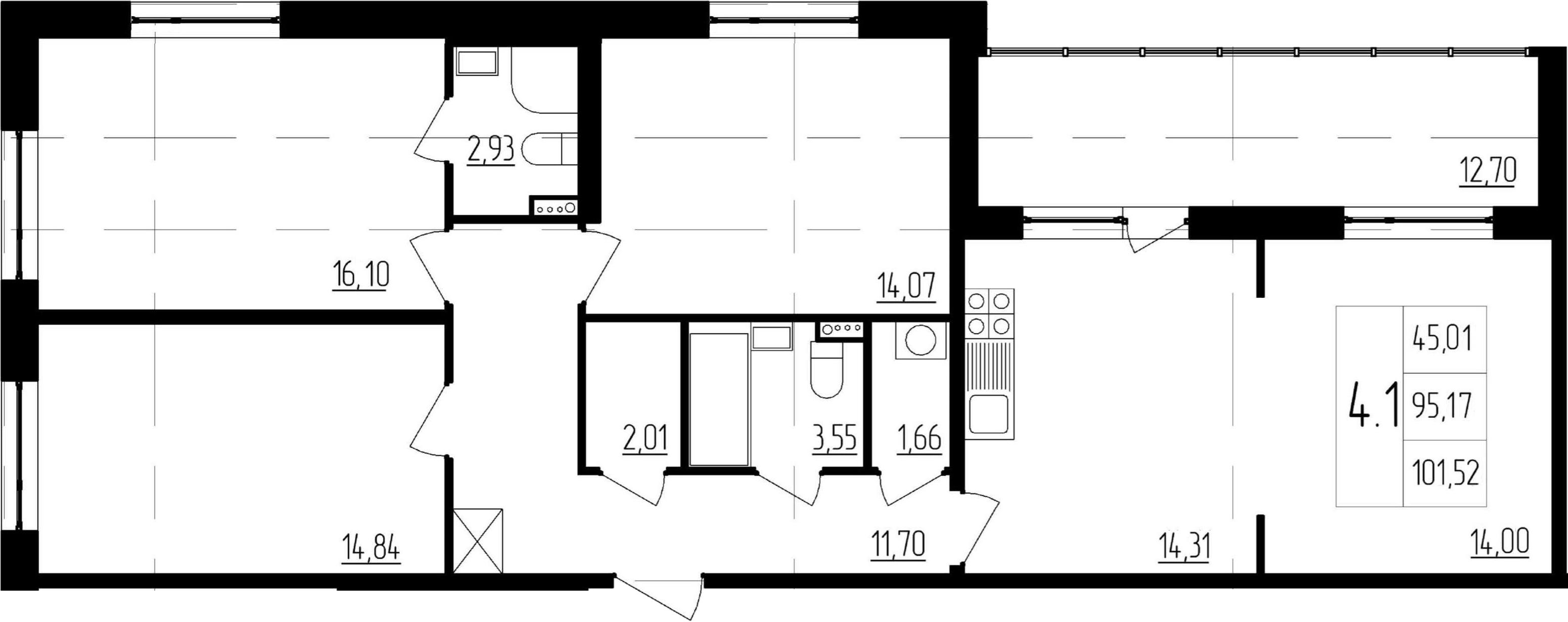 4-к.кв (евро), 107.87 м²