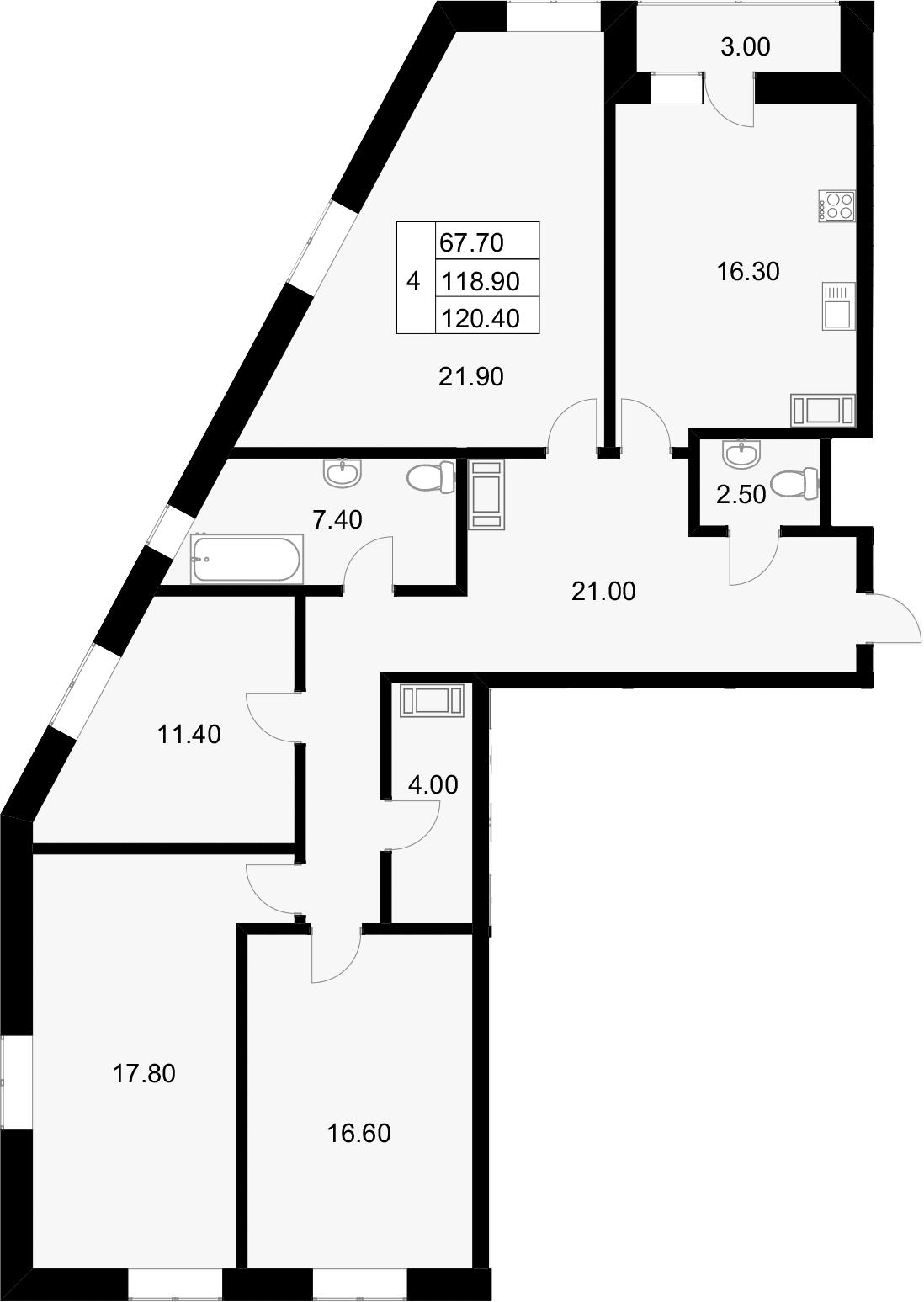4-к.кв, 121.9 м²
