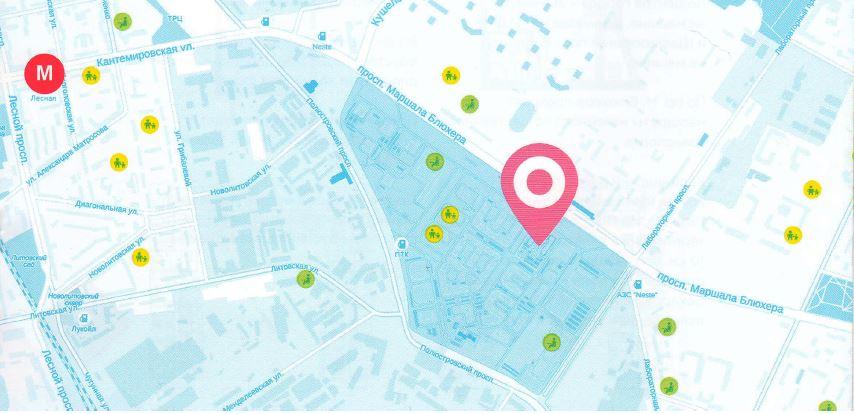 План жилого комплекса ЖК Фламинго
