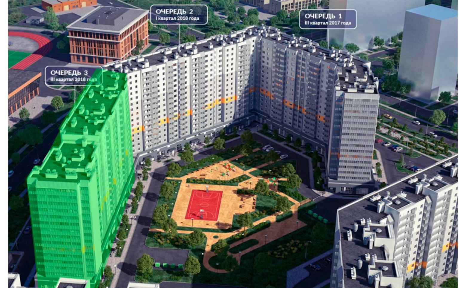 План жилого комплекса ЖК Новое Горелово